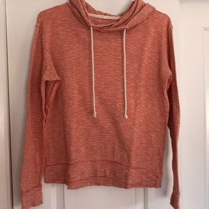 J. Crew cotton hooded pullover size small